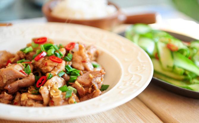Wietnamski kurczak w trawie cytrynowej