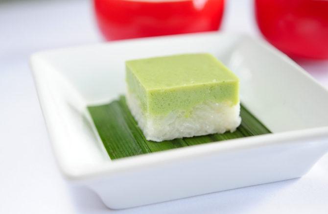 Serimuka – deser z kleistego ryżu i pandanu