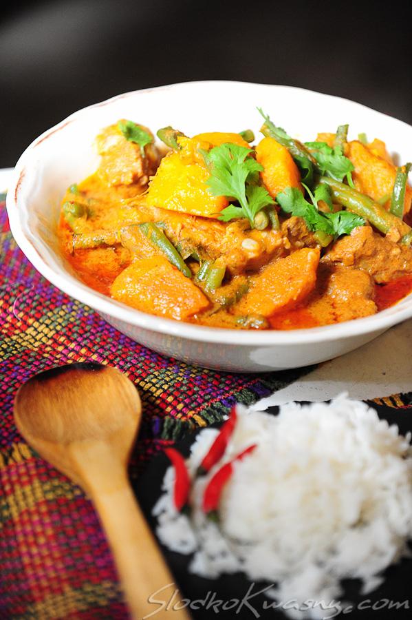 Tajskie czerwone curry z dynią