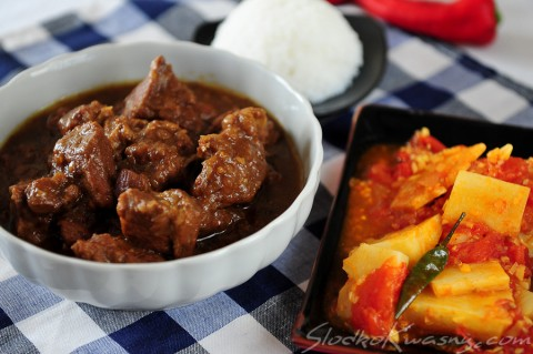 birmenska wieprzowina i bambus curry