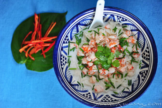 Krewetkowa zupa znad Mekongu