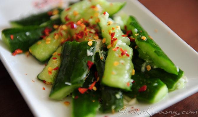 Chińska sałatka z ogórka