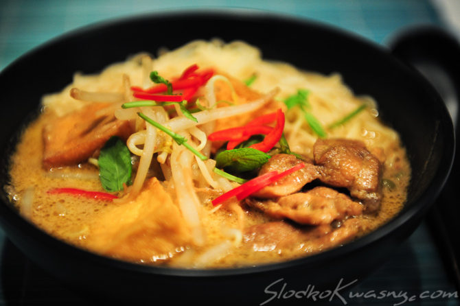 Malezyjskie noodle curry Kare Laksa