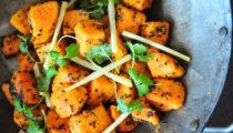 Słodkie ziemniaki w przyprawie panch phoran