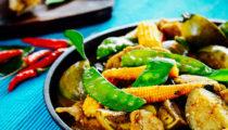 Jungle curry z tajskim bakłażanem