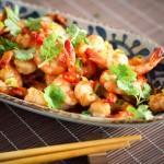 krewetki w sosie chili