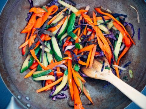 warzywa z grzybami