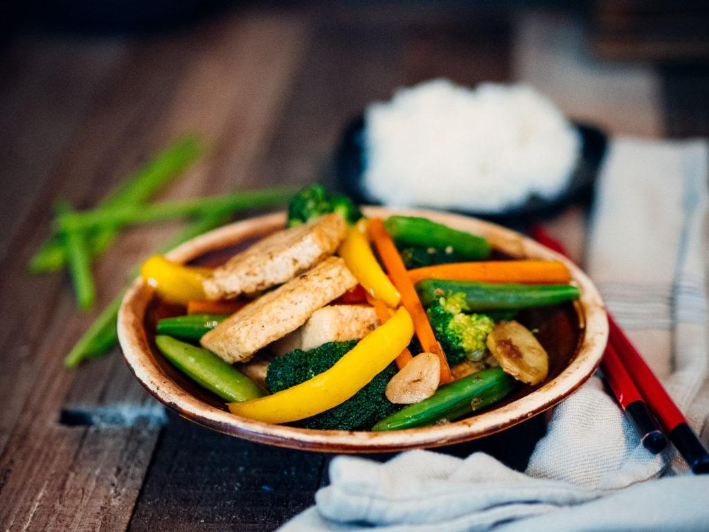 tofu z warzywami